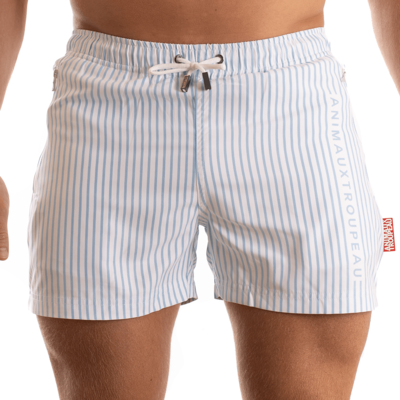 ZWEMSHORT - SMALL STRIPES ZIPPER EDITION