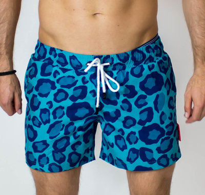 Swim shorts - Green Leopard