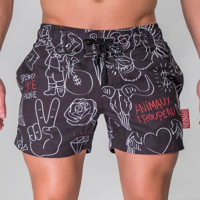 ZWEMSHORT - 1 BLACK CANVAS