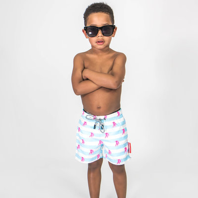 KIDS SWIM SHORT - PINK BANANA