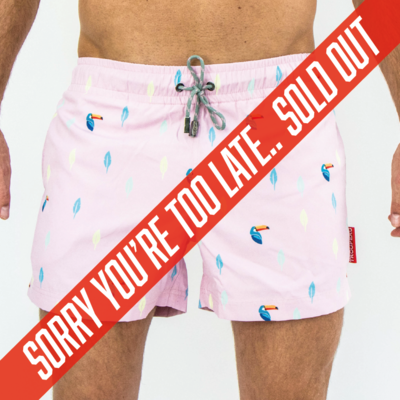 Swim Shorts - Pink Toucan