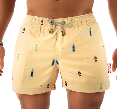 SWIM SHORTS - YELLOW BOOZY