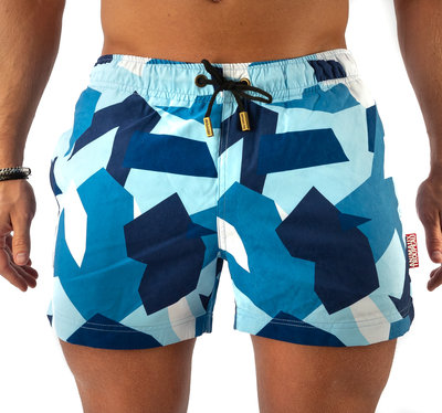 SWIM SHORTS - BLUE CAMO
